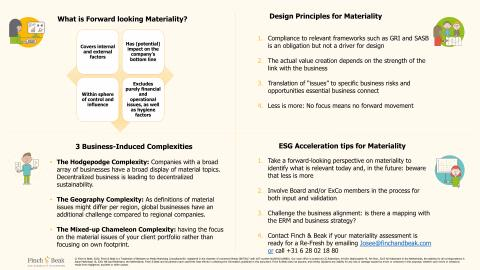 Cheatsheet for your materiality matrix