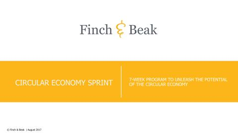 Circular Economy Sprint - An In-house Accelerator Program