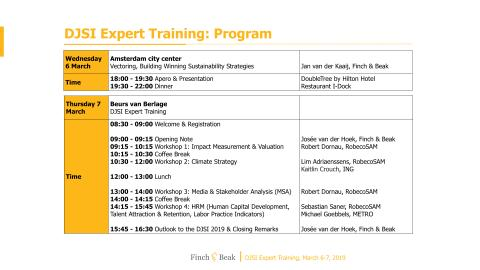 Find out more about the DJSI Expert Training program