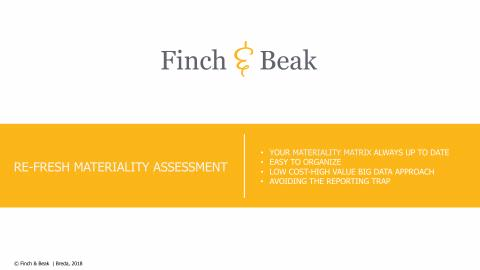 Finch & Beak Re-Fresh Materiality Assessment