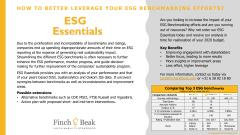 Finch & Beak's ESG Essentials Service