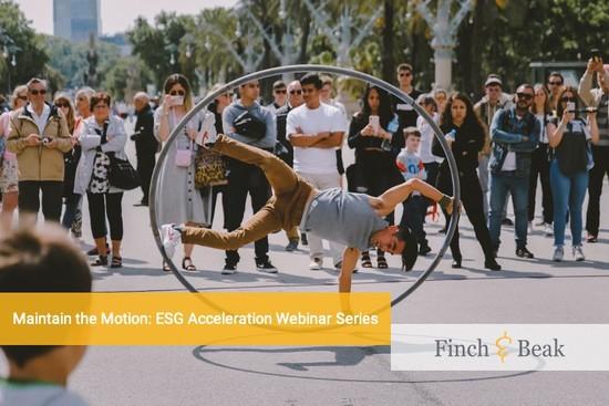 Second Instalment of the ESG Acceleration Webinar Series