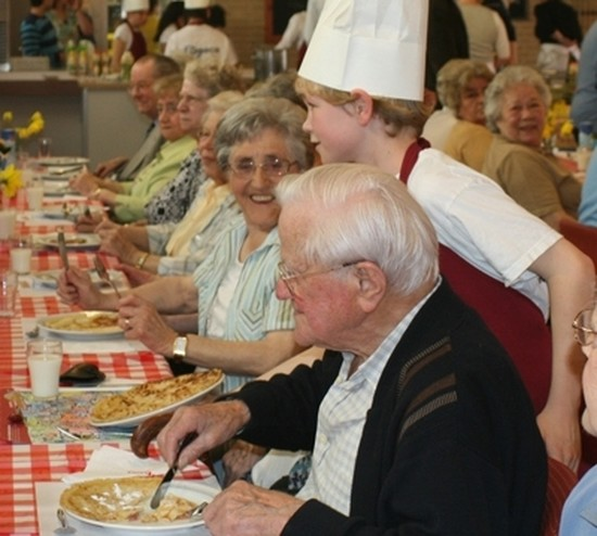 National Pancake Day Connects Juniors with Seniors