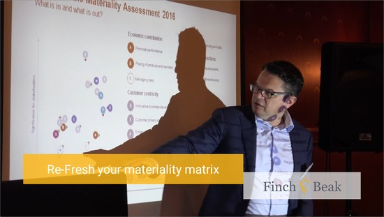 Lean Materiality Matrix 'Re-Fresh' Using Big Data