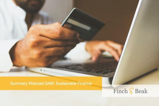 Summary of SAM's Webcast on Sustainable Finance
