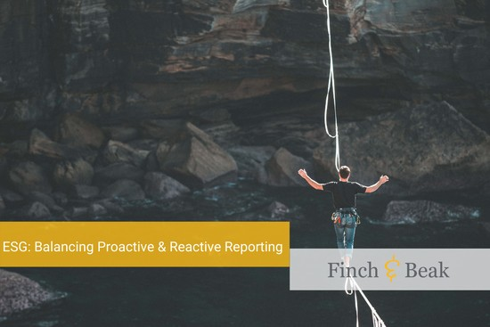 ESG Transparency: Balancing Proactive and Reactive Reporting
