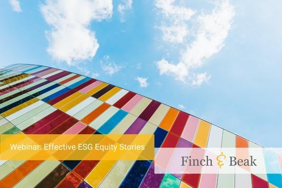 ESG Acceleration Webinar: Effective ESG Equity Stories